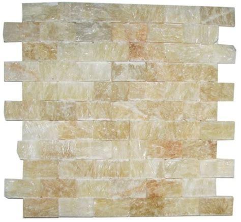 honey onyx split 1x2 mosaic tile for kitchen