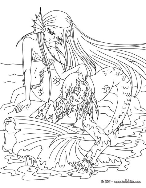 mermaid coloring pages getcoloringpagescom