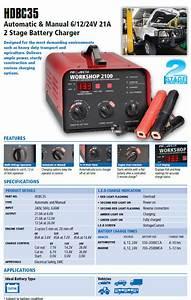 Projecta Hdbc35 Workshop Automatic  U0026 Manual 6  12  24v 21a 2