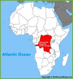 Democratic Republic of Congo On Africa Map