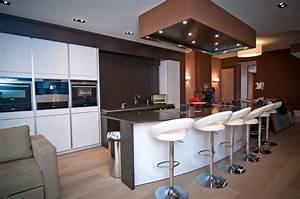 cuisine americaine avec ilot centrale images With awesome meuble de cuisine ilot central 6 cuisine americaine avec ilot deco maison moderne