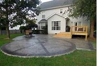 perfect patio design ideas concrete Walkers Concrete LLC - Stamped Concrete Patio Ideas Adding a Seating Wall, Columns or Fire Pit ...