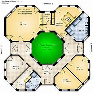 Atrium Bungalow Grundrisse : bungalow oktaeder mit atrium 163 27 bungalow einfamilienhaus neubau massivbau stein auf stein ~ Bigdaddyawards.com Haus und Dekorationen