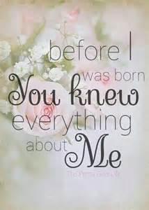 You Know Me God Psalm 139