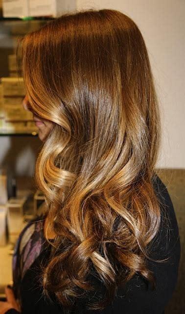 caramel  honey blonde highlights ombre hair