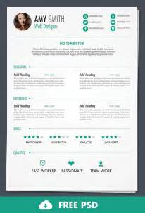 resume template free download psd design free psd print ready resume template designbump