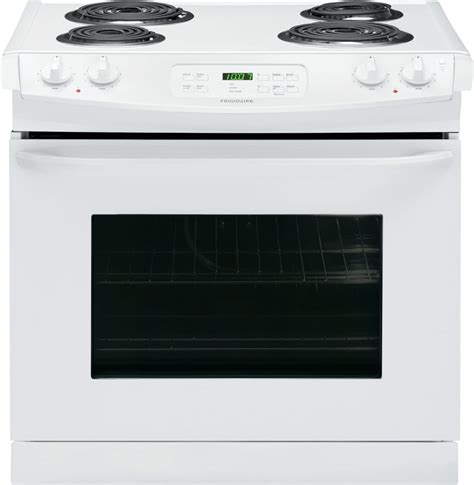 gas drop in range frigidaire ffed3015pw 30 inch drop in electric range with
