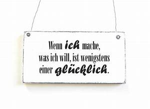 Vintage Schilder Mit Sprüchen : gl cklich dekoschild holzschild vintage shabby von d rpkind ~ A.2002-acura-tl-radio.info Haus und Dekorationen