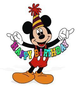 birthday disney birthday clip art  clipart images