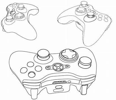 Xbox Controller Pages Outline Coloring 360 Drawing