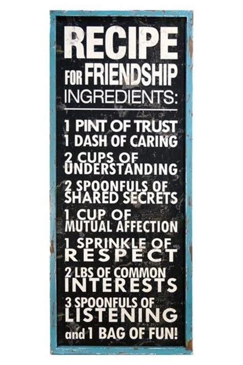 recipe  friendship sign  vip international