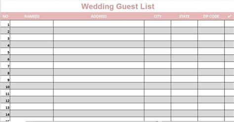 beautiful wedding guest list itinerary templates