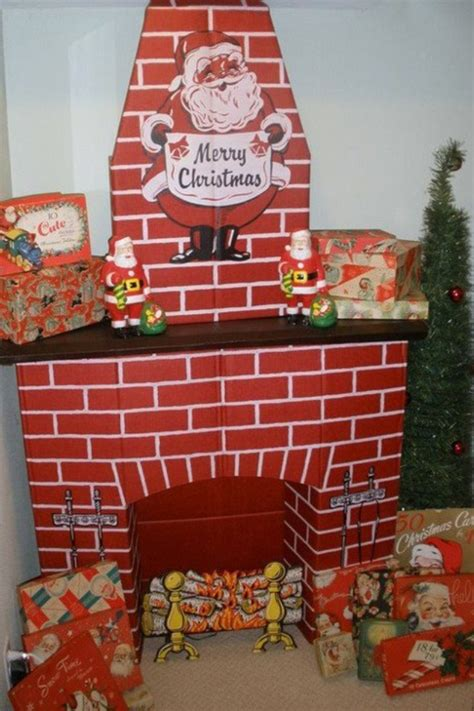 cardboard fireplaces images  pinterest