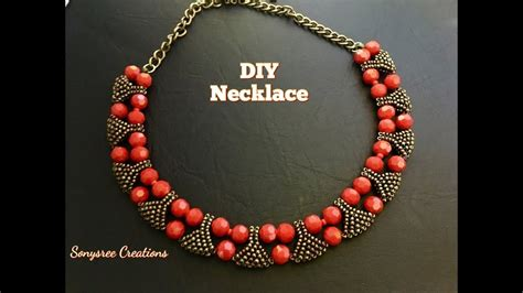 designer statement beaded necklace youtube