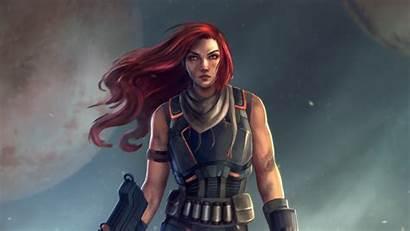 Warrior Illustrator Wallpapers 4k Digital Fantasy Guns