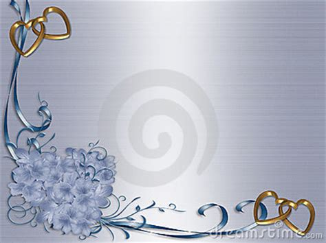 wedding invitation blue satin floral border royalty