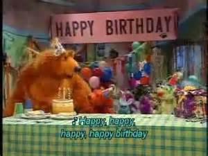 Bear in Big Blue House Happy Birthday Song