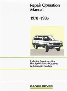 Range Rover 1970 1985 Repair Operation Manual Brooklands