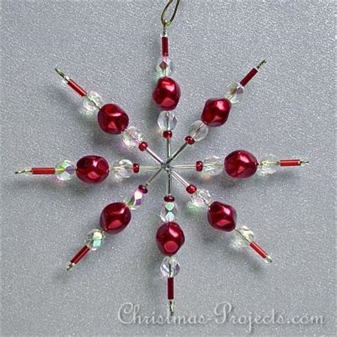 christmas and holiday craft beaded star ornament