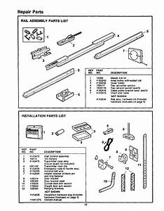 Rail Assembly Parts List  Installation Parts List  Repair