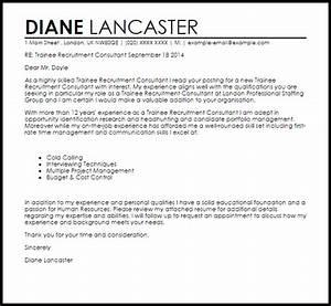 trainee recruitment consultant cover letter sample With covering letter for recruitment consultant
