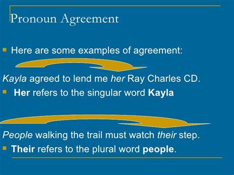 pronoun agreement reference