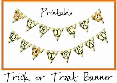 Banner Trick Treat Printable Halloween Sign Printables