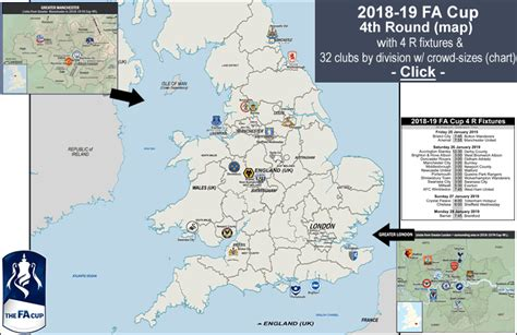 2018-19 Fa Cup 4th Round Proper- Map With Current League