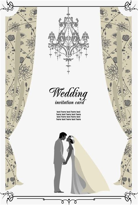 vector wedding invitation hd vector greeting cards png