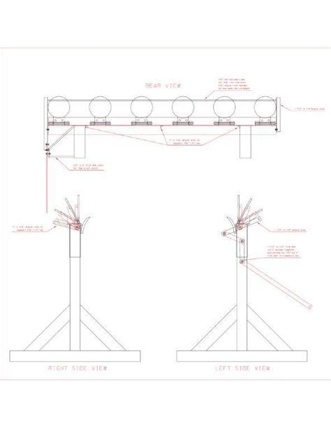 steel shooting plate rack drawing shooting targets pistol targets steel shooting