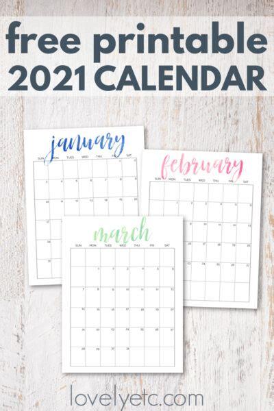 simple  pretty  printable  calendar lovely