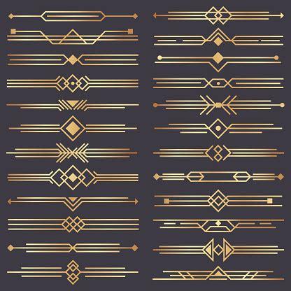art deco divider gold retro arts border  decorative