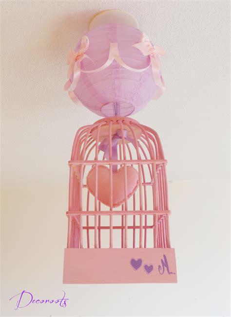 suspension pour chambre bébé lustre suspension fille cage quot petit coeur quot et parme
