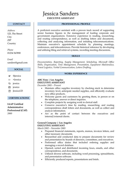 Professional Resumes by Resume Sles For Free