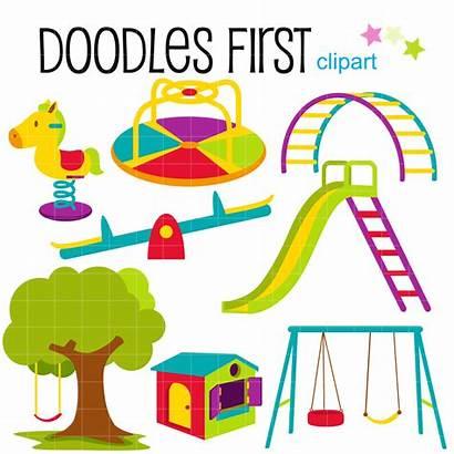 Playground Clip Clipart Making Scrapbooking Kiddie Digital