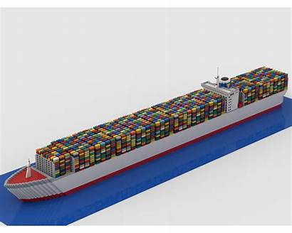 Ship Container Moc Lego Mocs Rebrickable Boat
