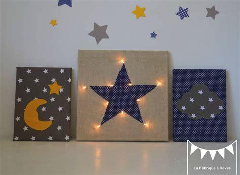 deco chambre etoile tableau veilleuse étoile nuage lune décoration chambre