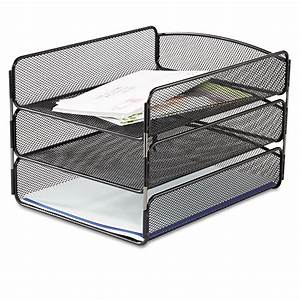 desk tray by safcor saf3271bl ontimesuppliescom With desk file letter trays