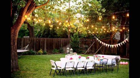backyard wedding ideas youtube