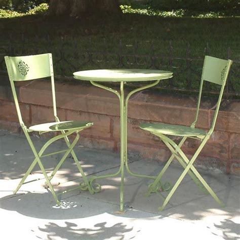 pistachio bistro patio table for small outdoor spaces
