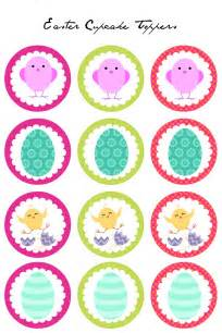 hello cake toppers easter cupcake toppers free printables