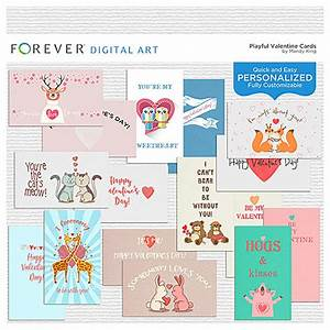 Playful Valentine Cards | Digital Art
