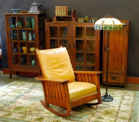 Stickley Morris Rocking Chair by Voorhees Craftsman Mission Oak Furniture Original L J G
