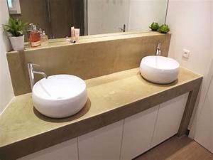 plan de travail salle de bain info sur construction ou With plan de travail hydrofuge salle de bain