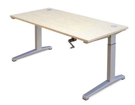 table reglable en hauteur manivelle