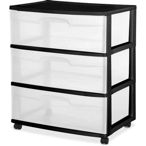 walmart plastic drawers sterilite 3 drawer wide cart black walmart