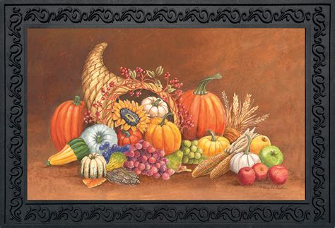 Thanksgiving Doormat cornucopia thanksgiving doormat autumn indoor outdoor 18