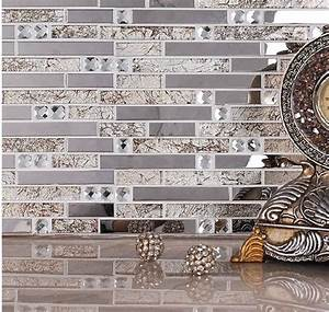 Home Kitchen Crystal Glass Mosaic Tiles Living Room Tiles
