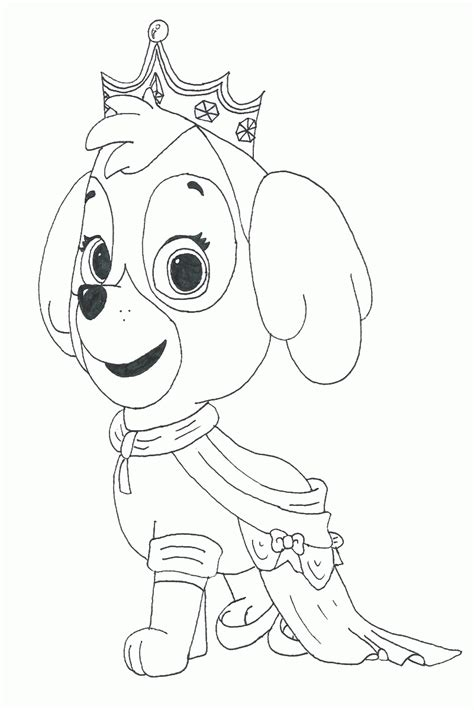 Paw Patrol Coloring Pages Skye Coloring Home
