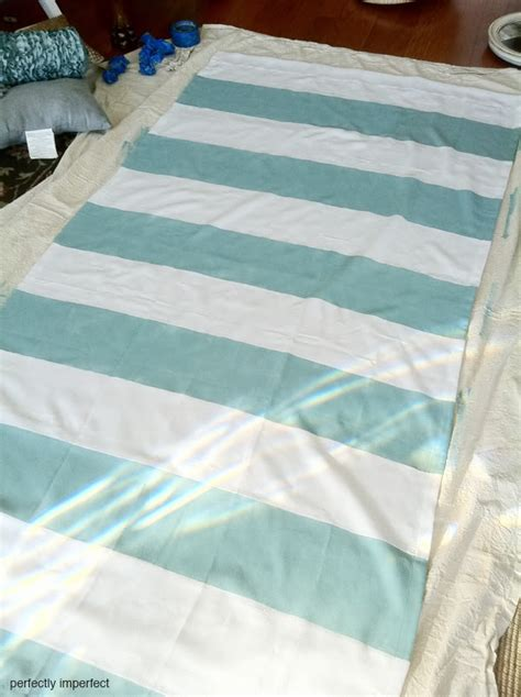 diy painted striped curtains yes i painted my curtains corner window curtain remodelaholic 45 diy painted curtain styles